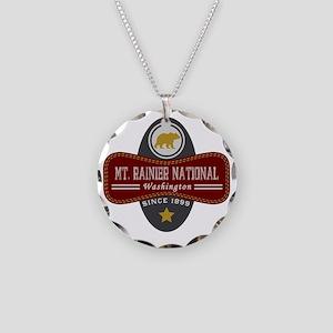 Mt. Rainier Natural Marquis Necklace Circle Charm