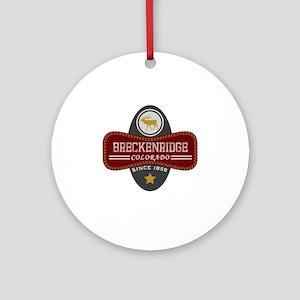 Breckenridge Natural Marquis Round Ornament