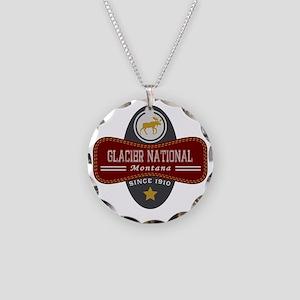 Glacier Natural Marquis Necklace Circle Charm