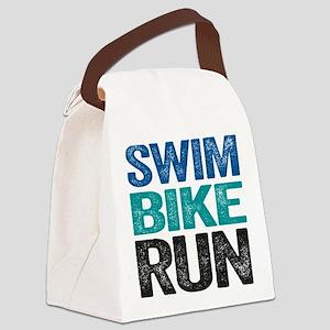 Triathlon. Swim. Bike. Run. Canvas Lunch Bag