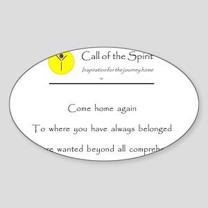 Come Home Sticker (Oval)
