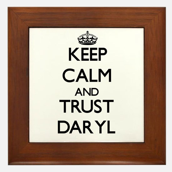 Keep Calm and TRUST Daryl Framed Tile