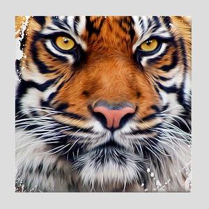 Male Siberian Tiger Tile Coaster