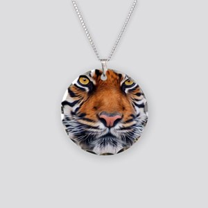 Male Siberian Tiger Necklace Circle Charm
