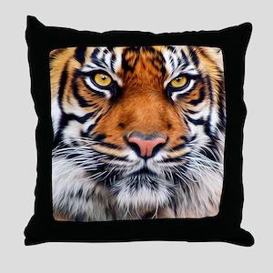 Siberian Tiger Male Throw Pillow