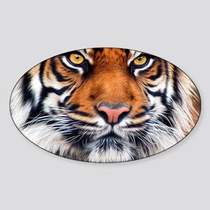 Siberian Tiger Male Sticker (Oval)