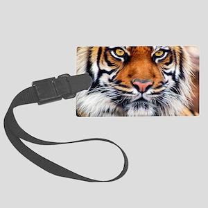 Siberian Tiger Male Large Luggage Tag