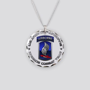 173rd Airborne Necklace Circle Charm
