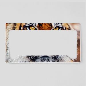 Male Siberian Tiger License Plate Holder