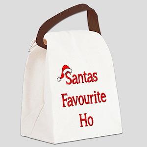 Santas Favourite Ho Canvas Lunch Bag