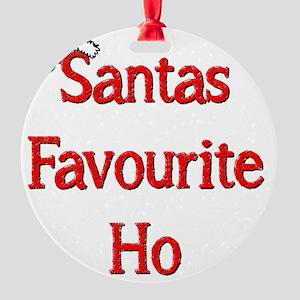 Santas Favourite Ho Round Ornament