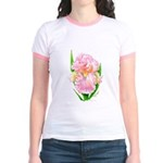 Pink Iris Jr. Ringer T-Shirt
