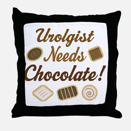 Urologist Chocolate Gift Throw Pillow