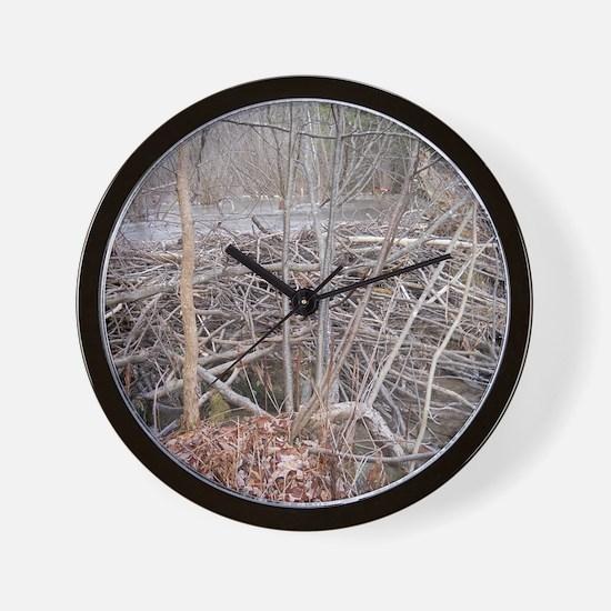 Beavers New Home Wall Clock