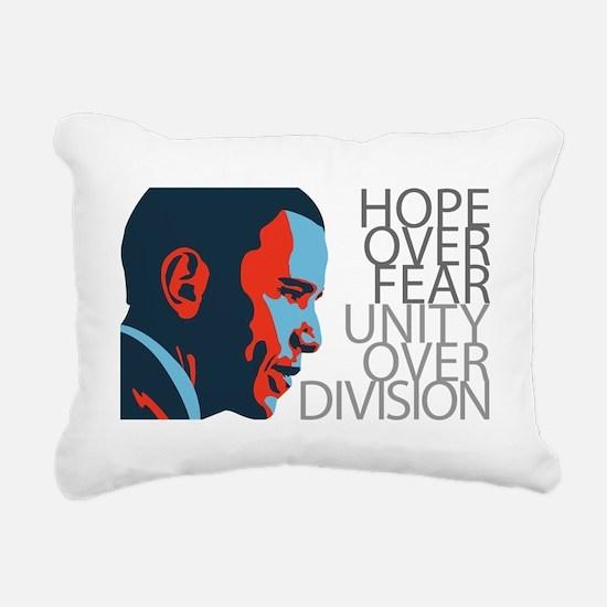 obama_redblue Rectangular Canvas Pillow