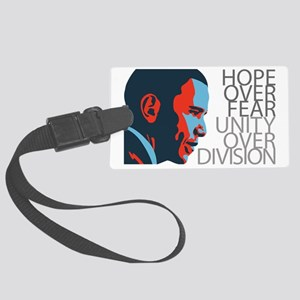 obama_redblue Large Luggage Tag