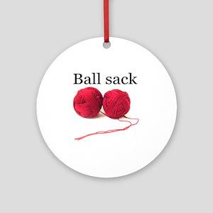 Knitting Round Ornament
