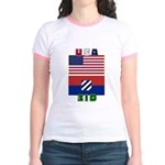 USA-3ID - Women's Ringer T-shirt