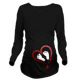 Valentines day Dark Long Sleeve Maternity T-Shirt