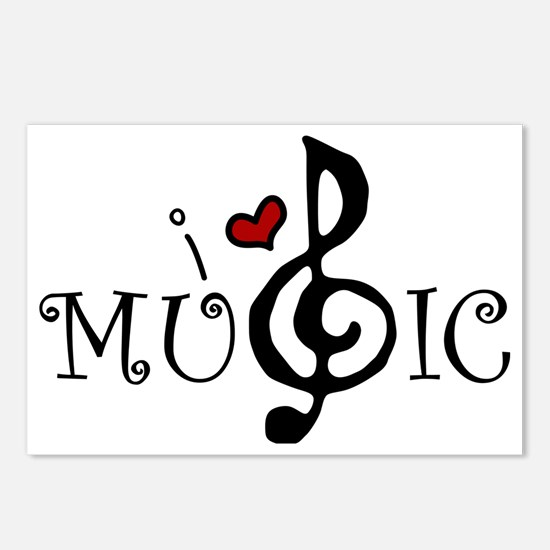 I Love Music Postcards (Package of 8)