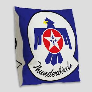 U.S. Air Force Thunderbirds Burlap Throw Pillow