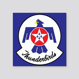 "U.S. Air Force Thunderbirds Square Sticker 3"" x 3"""