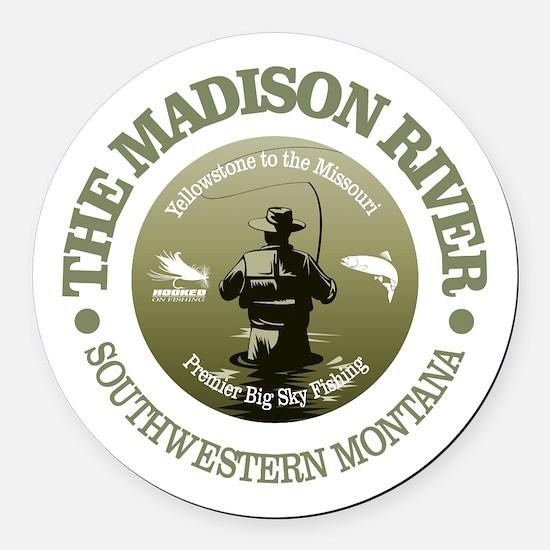 Madison River FF Round Car Magnet
