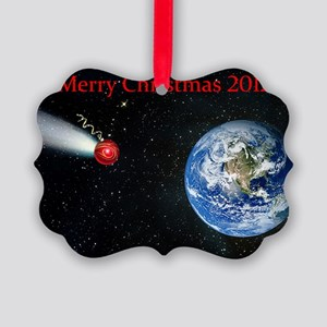 Christmas comet 2012 Picture Ornament