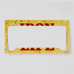 Iron Life License Plate Holder