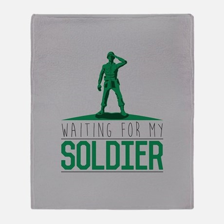 Waiting For my Soldier Throw Blanket