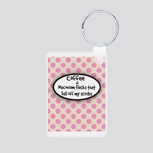 Coffee and Meconium 6 Aluminum Photo Keychain