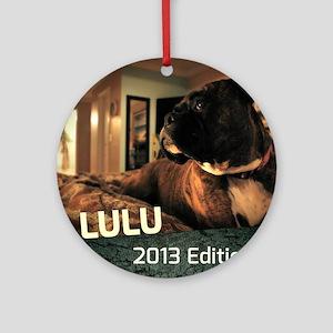 Boxer Calendar Cover Round Ornament