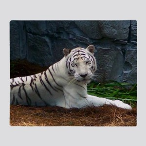 White Tiger Throw Blanket