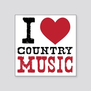 "Country Music Square Sticker 3"" x 3"""