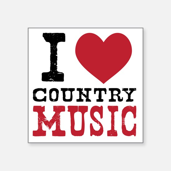 """Country Music Square Sticker 3"""" x 3"""""""