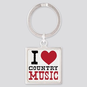 Country Music Square Keychain