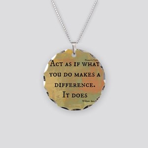 You Make a Difference Necklace Circle Charm