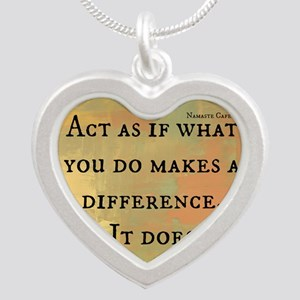 You Make a Difference Silver Heart Necklace