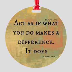 You Make a Difference Round Ornament