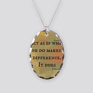 You Make a Difference Necklace Oval Charm