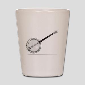 White Banjo Shot Glass