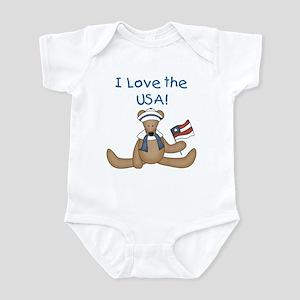 I Love the USA Infant Bodysuit