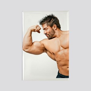 Muscles Rectangle Magnet