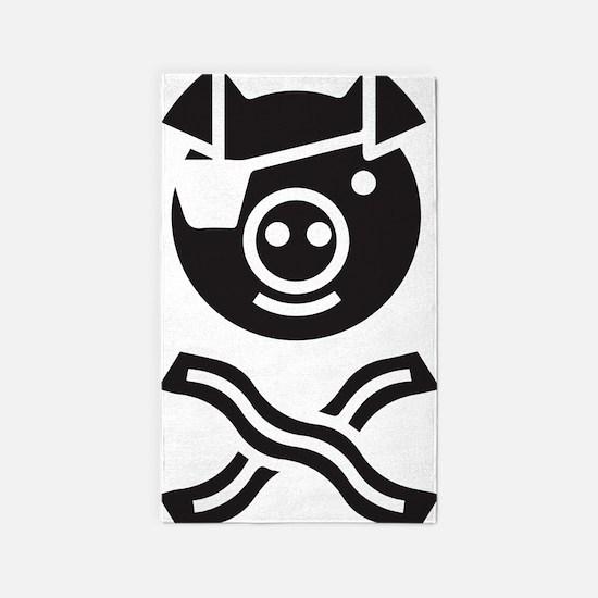 Pirate Piggy 3'x5' Area Rug