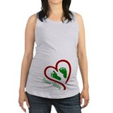 Pregnant christmas t Maternity Tank Top