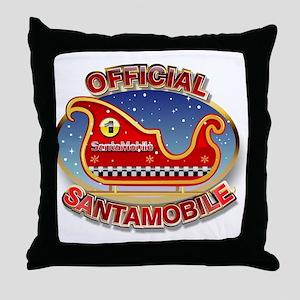 SantaMobile Throw Pillow