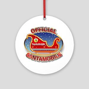SantaMobile Round Ornament