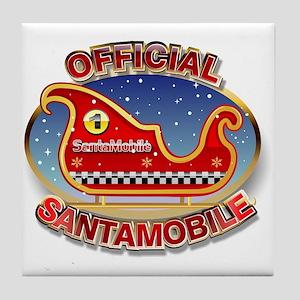 SantaMobile Tile Coaster