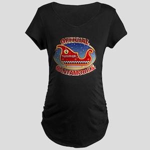 SantaMobile Maternity Dark T-Shirt