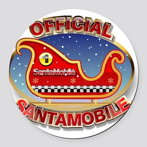 SantaMobile Round Car Magnet